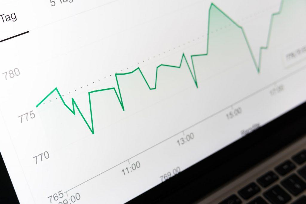 WEB広告のアクセスグラフ