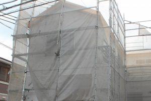 戸建て住宅の仮設足場